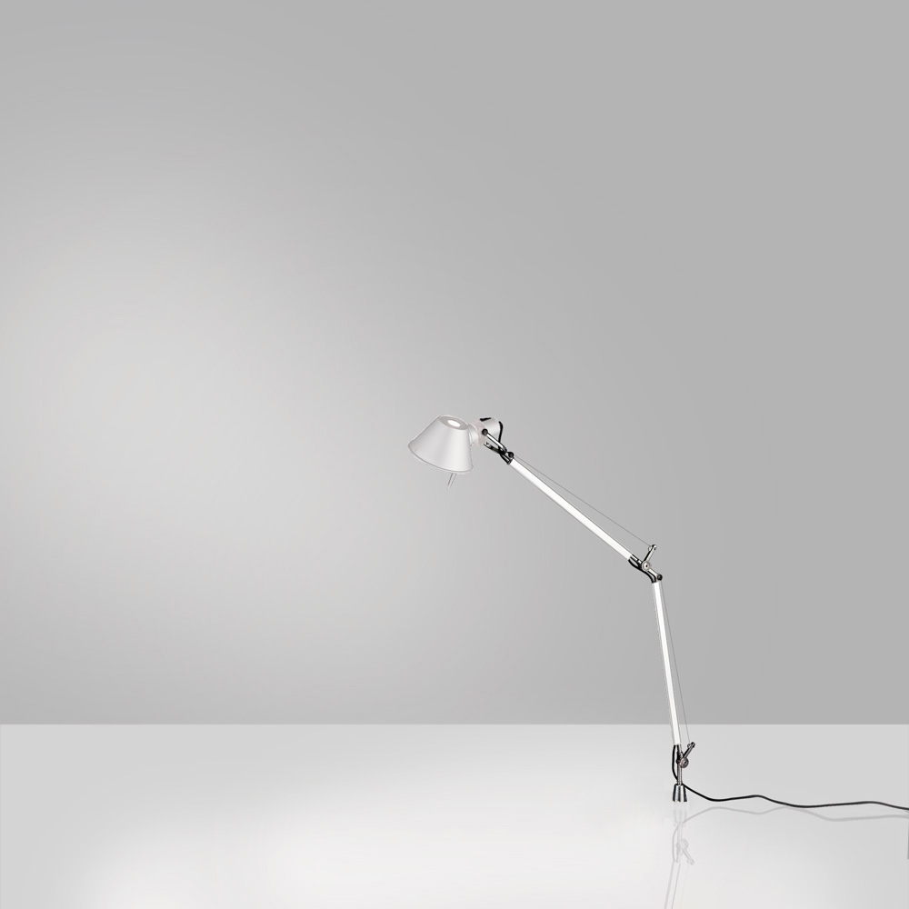 TOLOMEO MINI MAX 100W E26 WHITE W/IN-SET PIVOT ALUM