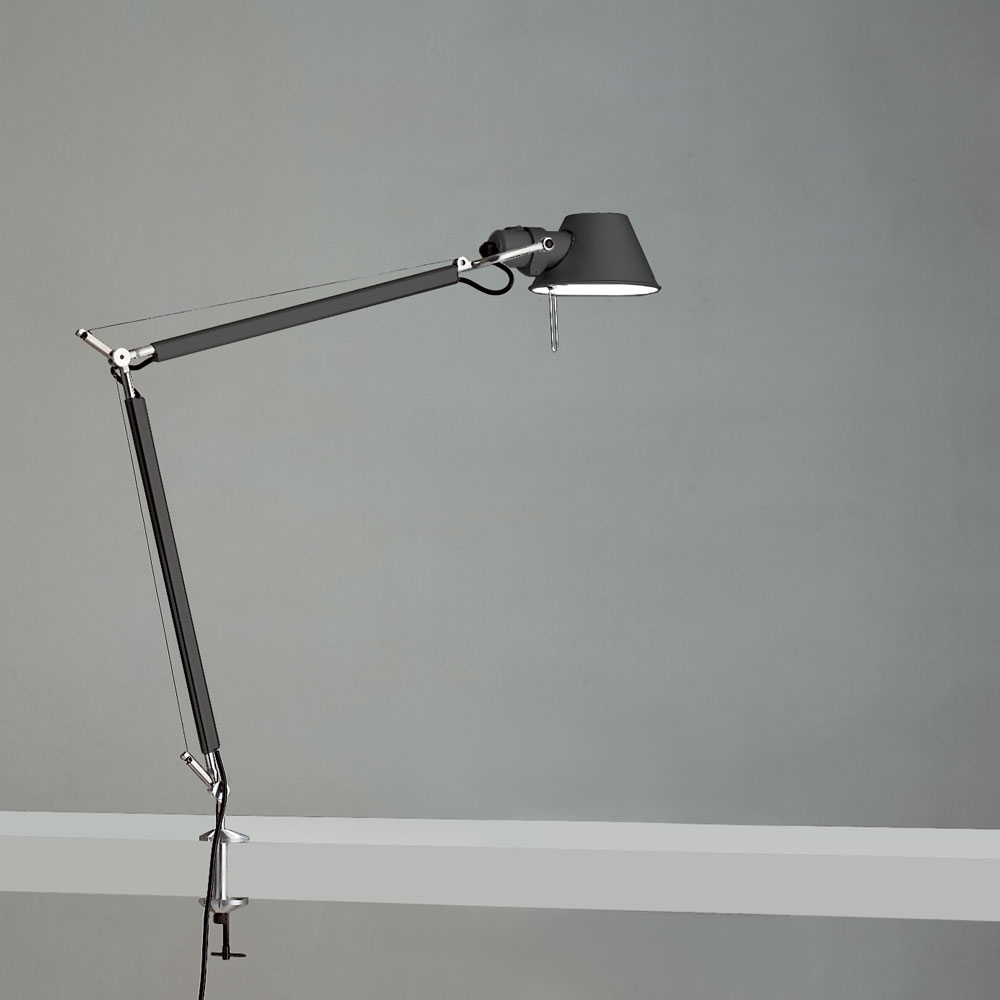 TOLOMEO MIDI LED 9W 30K MP-MV ANTHRACITE W/CLAMP ALUM