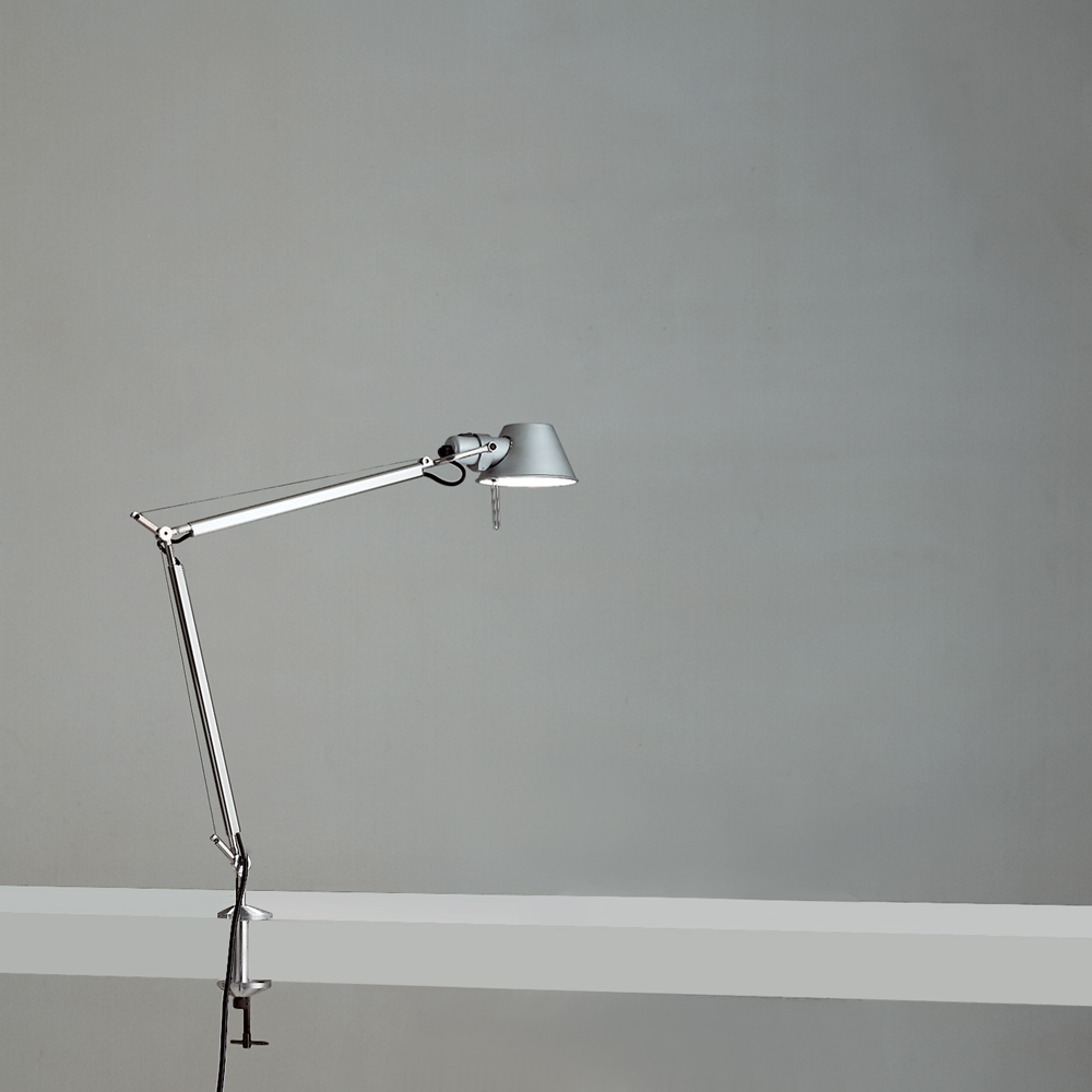 TOLOMEO MIDI LED 9W 30K MP-MV ALUM W/CLAMP