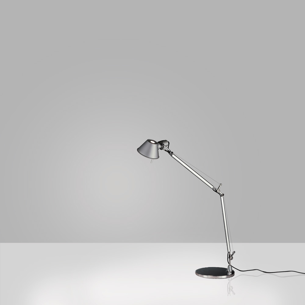 TOLOMEO MINI MAX 100W E26 ALUM W/BASE