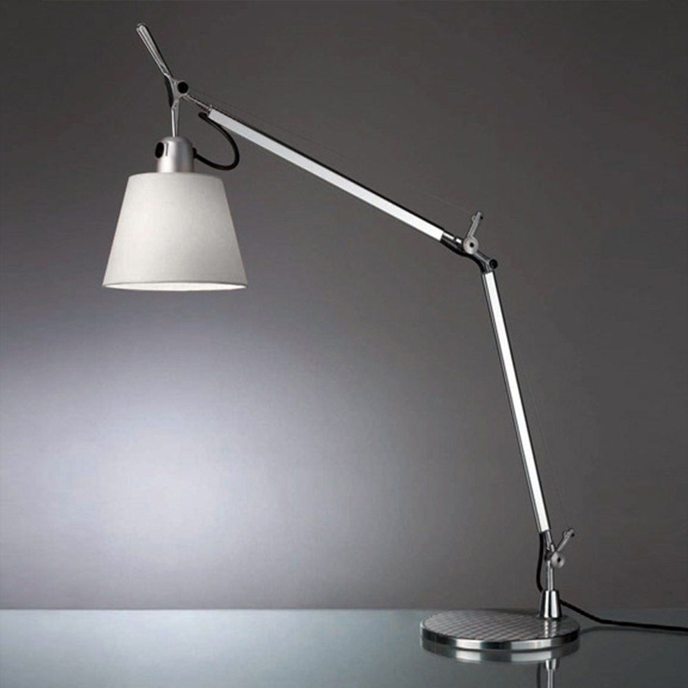TOLOMEO WITH SHADE MAX 75W E26 ALUM/FIBER W/BASE