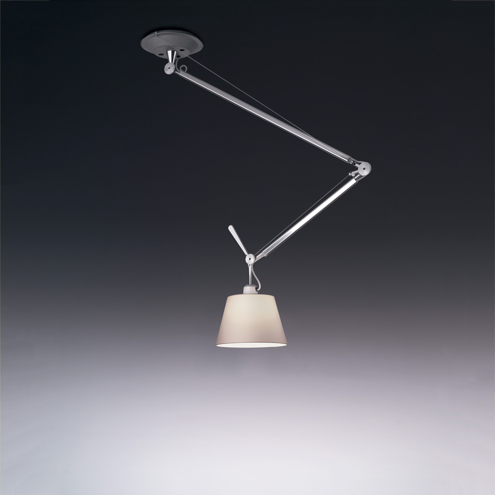 "TOLOMEO OFF-CENTER SUSP MAX 100W E26 ALUM W/10"" DIFF PARCH"