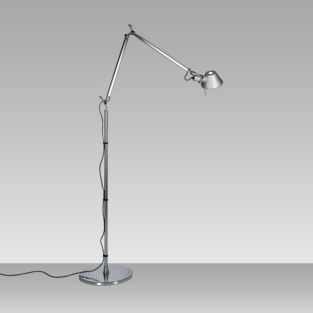 "TOLOMEO OUTDOOR FLOOR LED 23W 30K DIM ALUM W/21"" DIFFUSOR WHITE"