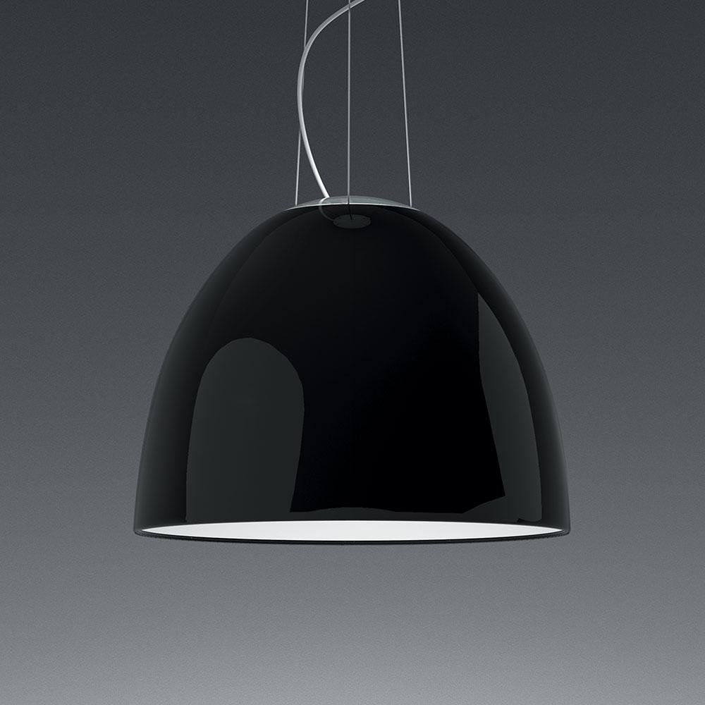 NUR GLOSS SUSP LED 43W 30K DIM 0-10V BLACK UNV UL