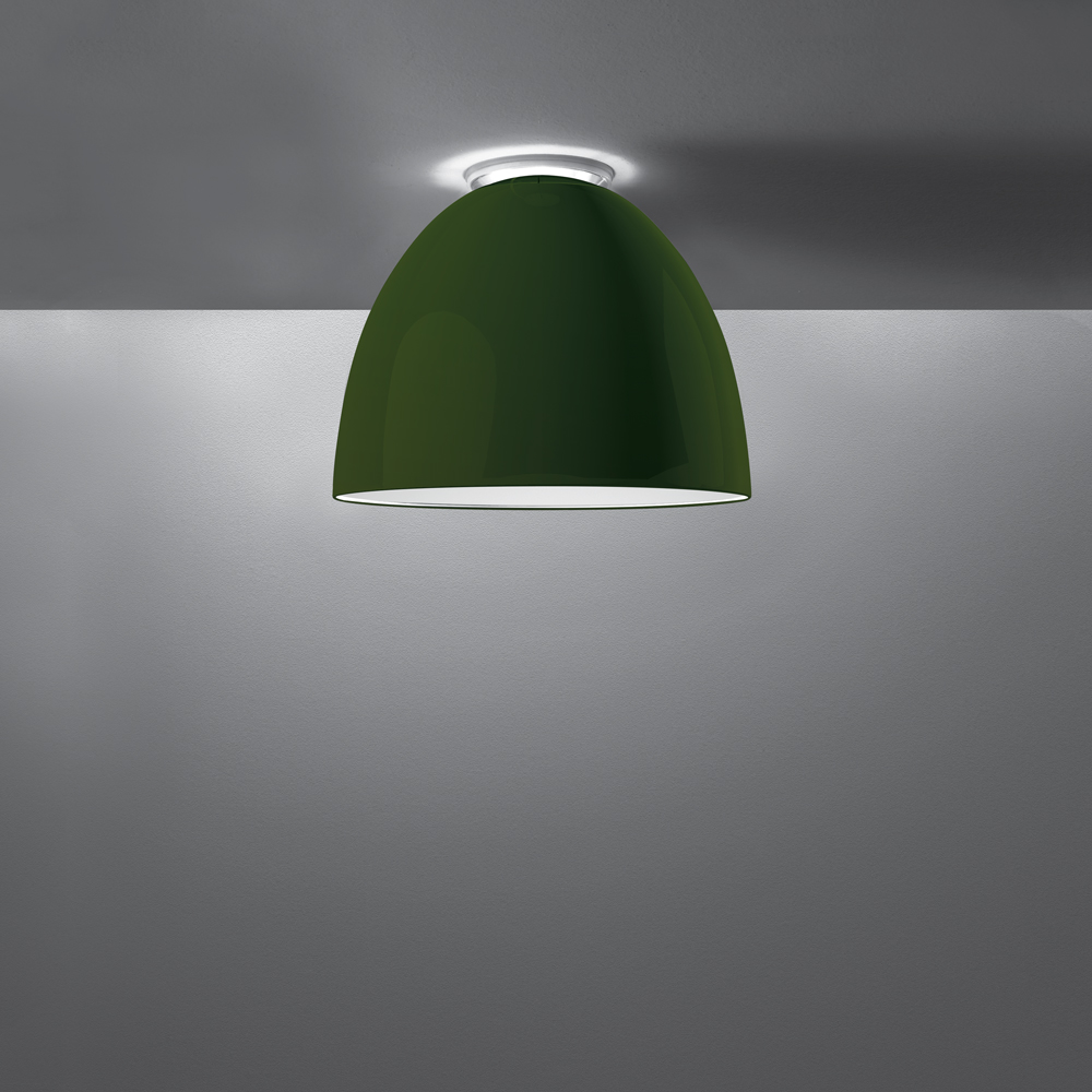 NUR GLOSS MINI CEIL LED 28W 30K DIM 2-WIRE GREEN UNV UL