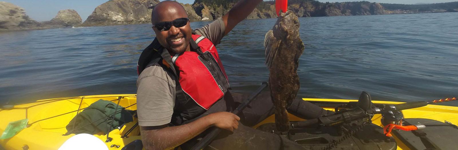 Brookings Ocean Kayak Fishing Tour