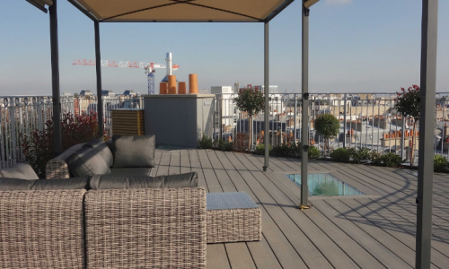 Big terrace in a parisian loft