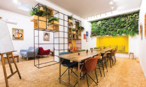 Espace de coworking en open space Beaubourg