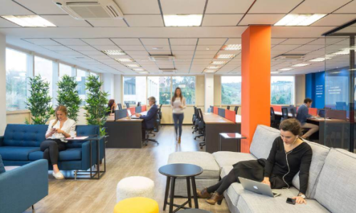 Espace de coworking privatisable dans un open space