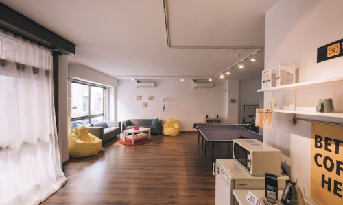 Inspiring event lounge at an international coworking space