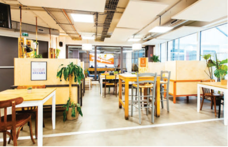 Open space in coworking space at Olympiades