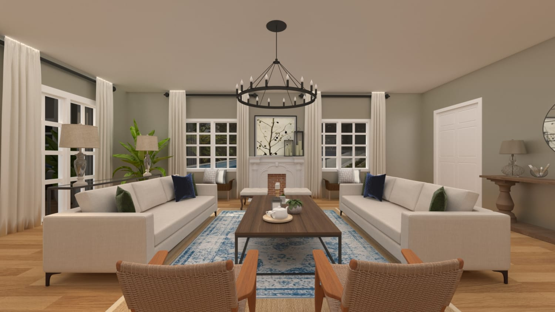 Neutral Farmhouse Style Living Room
