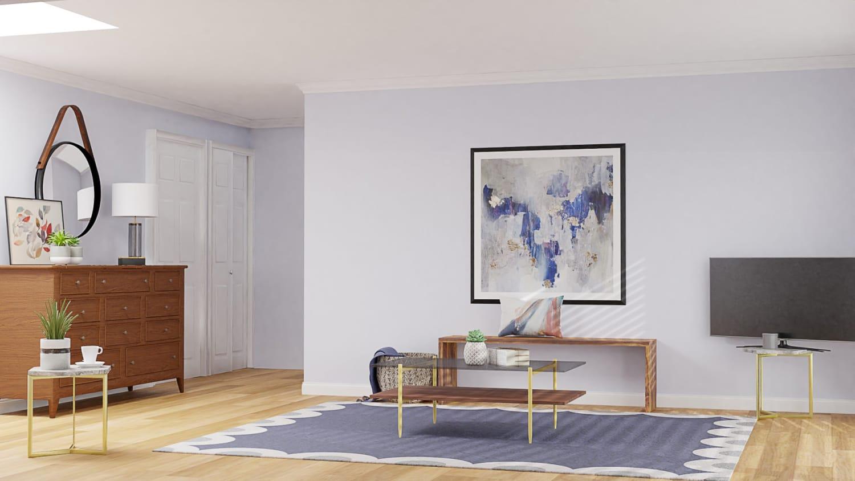 Soft Purple Modern Living Room