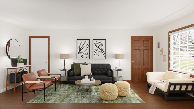 Mid-Century Urban Living Room
