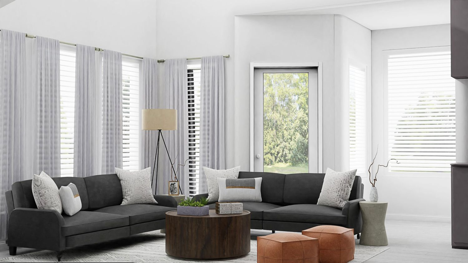 Neutrals: Urban Modern Living Room Design By Spacejoy
