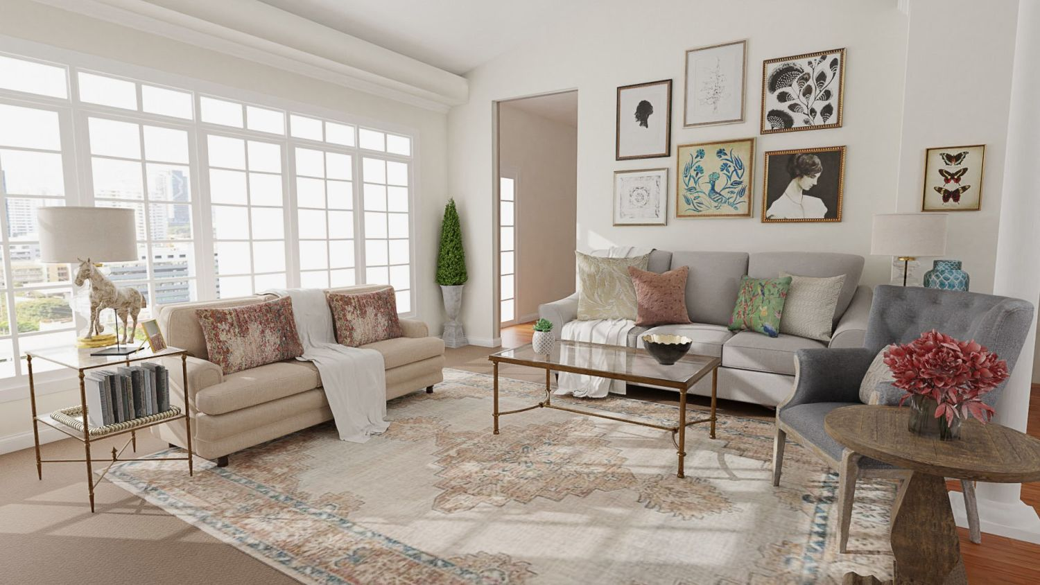 French Country Accents: Classic Traditional Living Room Design By Spacejoy