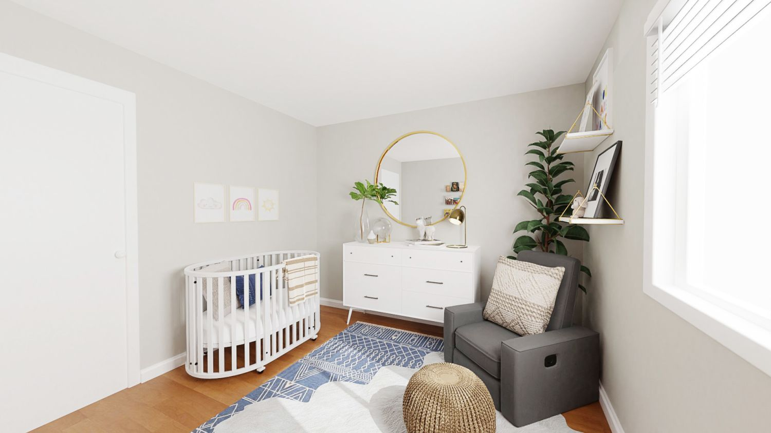 Cozy + Neutral: Modern Minimalist Nursery Design By Spacejoy