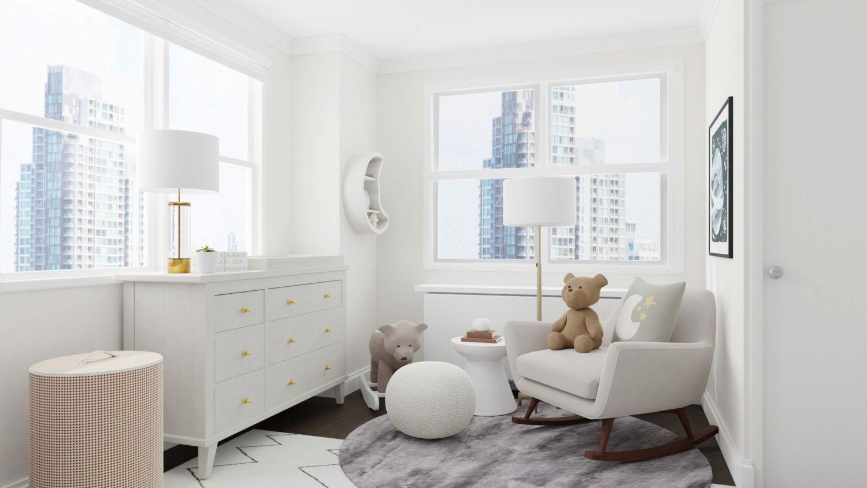 Mid century modern minimalist nursery