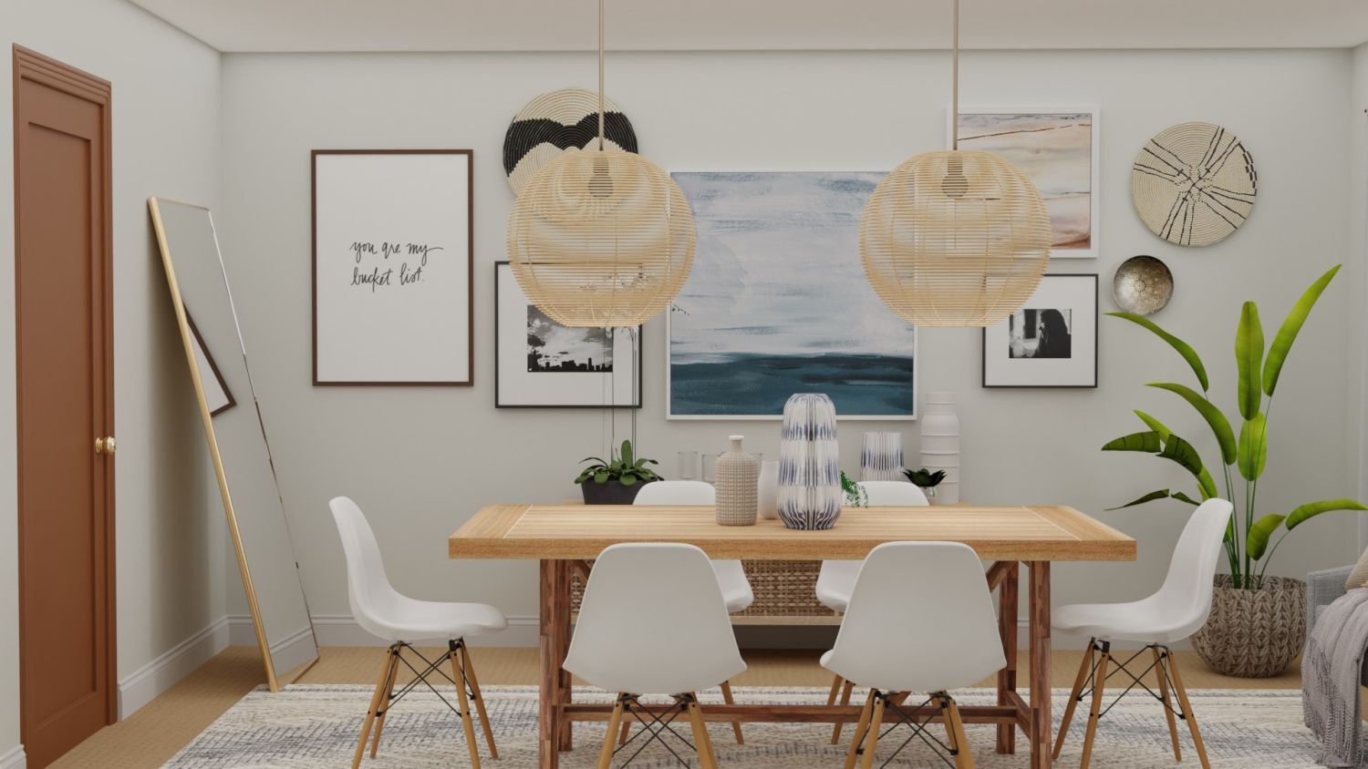 Statement pieces in dining room