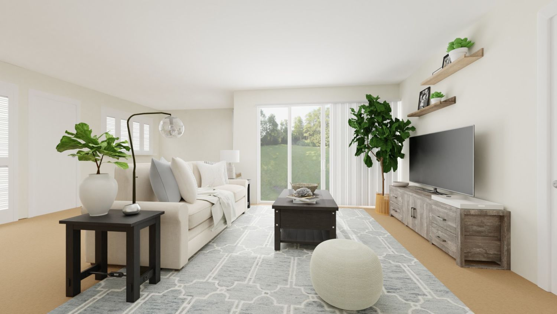 Coastal beach vibes living room