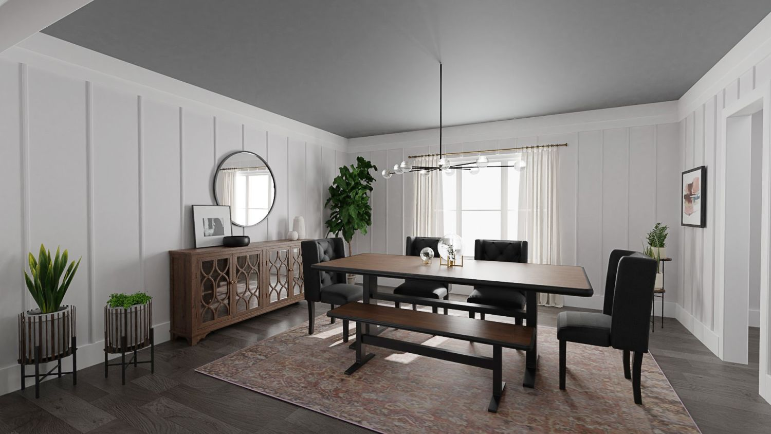 Credenza in dining room