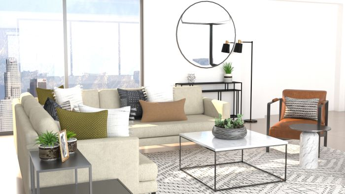 Modern Living Room With Industrial Touches Design View 2 By Spacejoy
