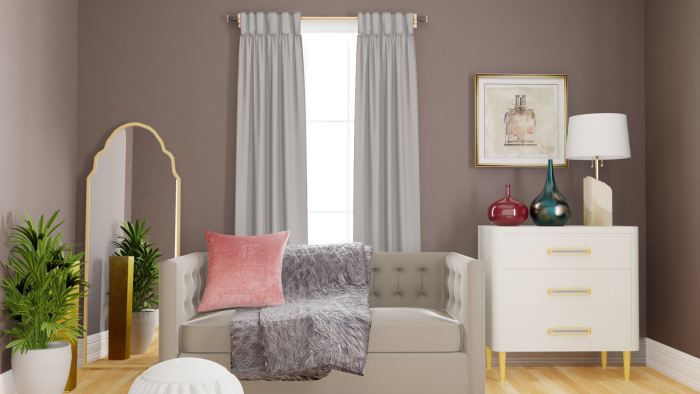 Soothing Pastels: Glam Bedroom Design View 3 By Spacejoy