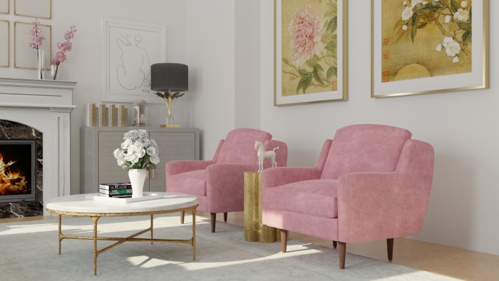 Feminine Classic Living Room Design View 3 By Spacejoy