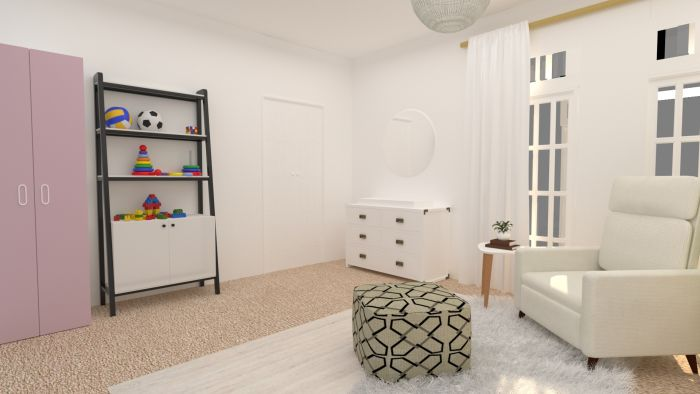 Calming Neutral Tones Nursery Design View 3 By Spacejoy