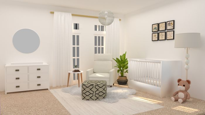 Calming Neutral Tones Nursery Design View 2 By Spacejoy