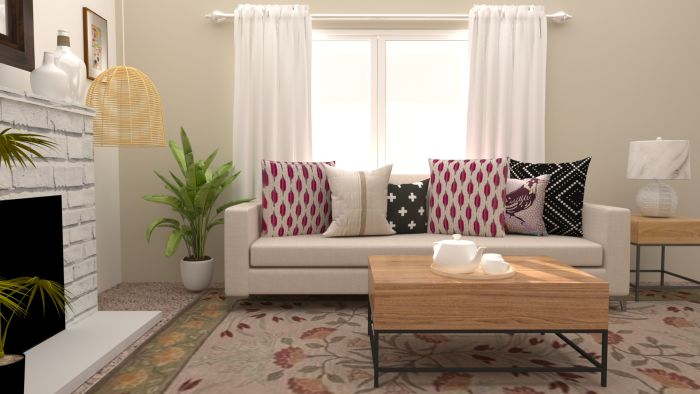 Cozy Urban Farmhouse Living Room Design View 2 By Spacejoy