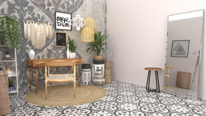 Blogger's Desk: Boho Eclectic Design View 3 By Spacejoy