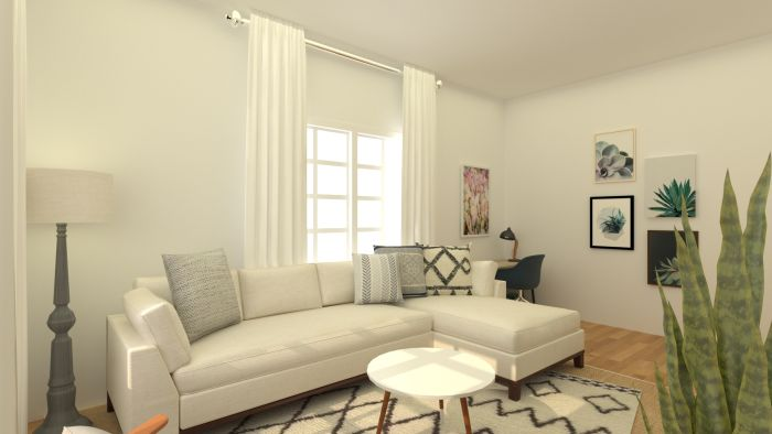 White Patterns: Boho Eclectic Living Room Design View 3 By Spacejoy