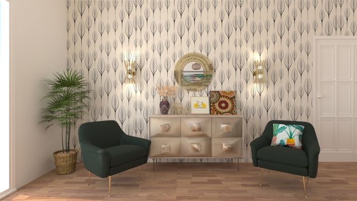 Go Green: Boho Eclectic Living Room Design View 2 By Spacejoy