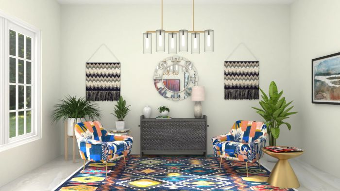 Jewel Tones: Elegant Eclectic Living Room Design View 3 By Spacejoy