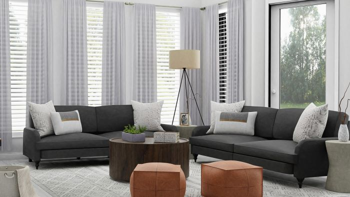 Neutrals: Urban Modern Living Room Design View 2 By Spacejoy