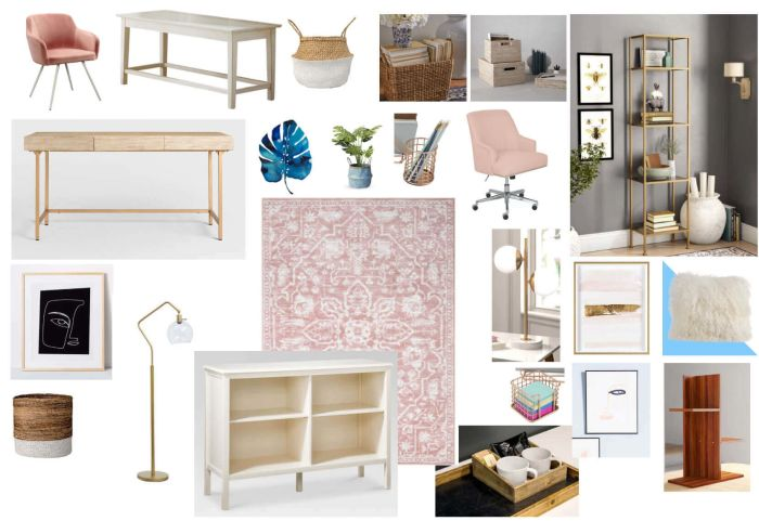 Home Office Moodboard Created For Adriana Pachas