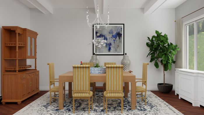 Modern Details: Traditional Open Living/Dining Room Design View 3 By Spacejoy