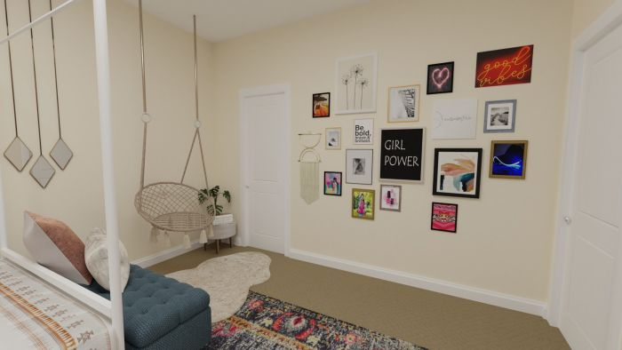 Mix and Match Art: Urban Eclectic Teen Bedroom Design View 4 By Spacejoy