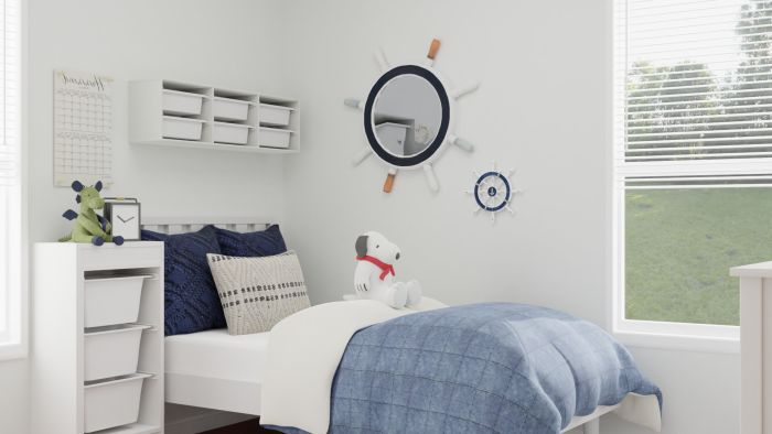 Bright Nautical: Coastal Casual Kid's Bedroom Design View 2 By Spacejoy