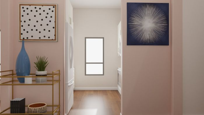 Pink and Feminine: Modern Glam Entryway Design View 3 By Spacejoy