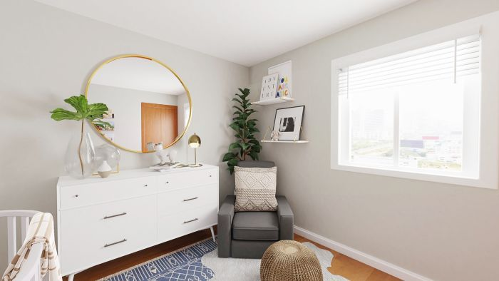 Cozy + Neutral: Modern Minimalist Nursery Design View 4 By Spacejoy