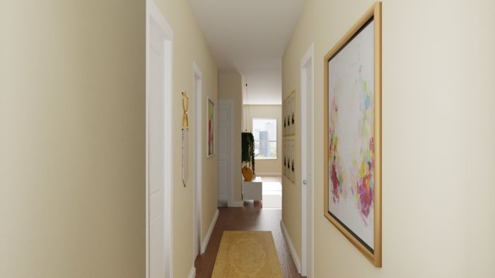 Vibrant Multi-Color: Eclectic Glam Entryway Design View 4 By Spacejoy
