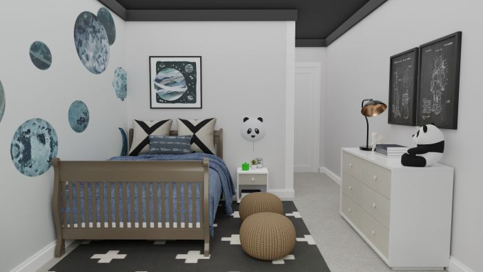 Space Inspired: Urban Transitional Kid's Room Design View 3 By Spacejoy