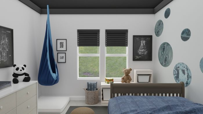 Space Inspired: Urban Transitional Kid's Room Design View 4 By Spacejoy