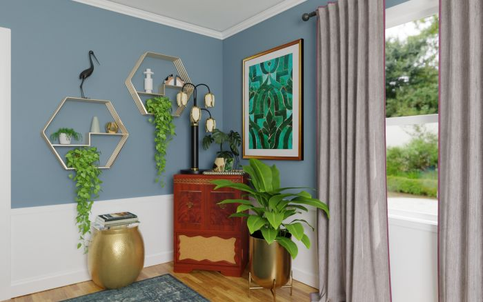 Mixing Vintage Pieces: Eclectic Glam Dining room Design View 3 By Spacejoy