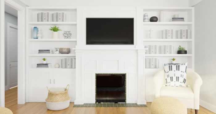 Extra Storage:  Classic Transitional Living Room Design View 3 By Spacejoy