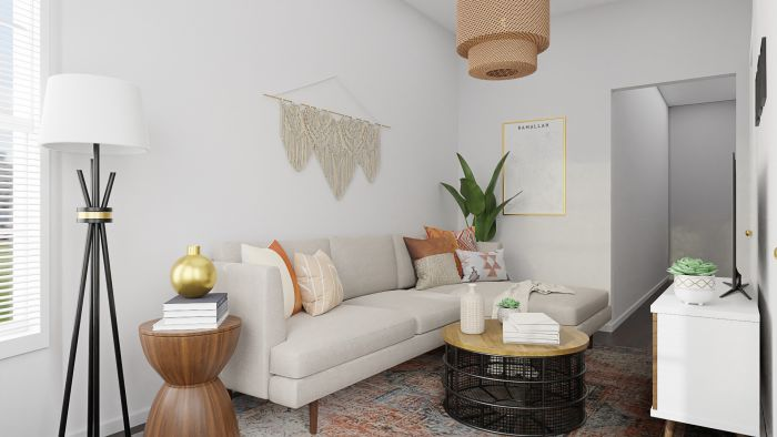 Southwestern Vibes:  Rustic Boho Living Room Design View 2 By Spacejoy