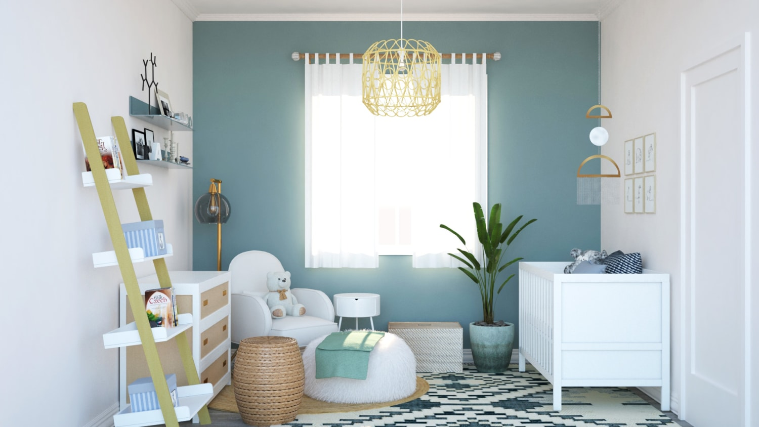 Boho Oasis Nursery Design By Spacejoy