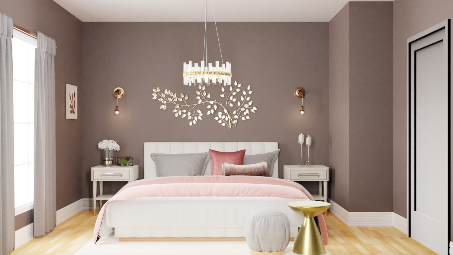 Soothing Pastels: Glam Bedroom Design By Spacejoy